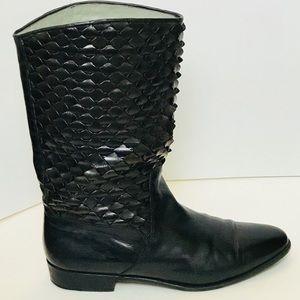 Lorenzo Banfi Shoes - Lorenzo Banfi_Leather_ Black Boots